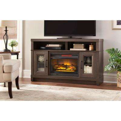 Recent Kenzie 60 Inch Open Display Tv Stands With Regard To Gray – Electric Fireplaces – Fireplaces – The Home Depot (View 24 of 25)