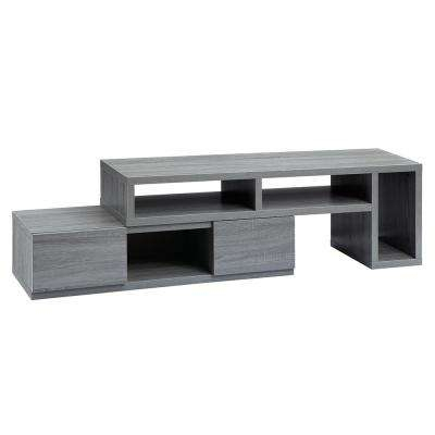 Recent Kenzie 72 Inch Open Display Tv Stands With Gray – Tv Stands – Living Room Furniture – The Home Depot (Image 17 of 25)