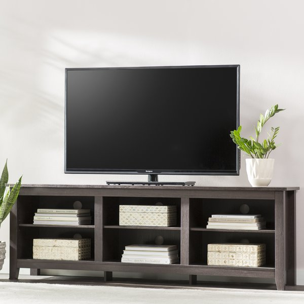 Recent Kenzie 72 Inch Open Display Tv Stands With Tv Media Fireplace (Image 18 of 25)