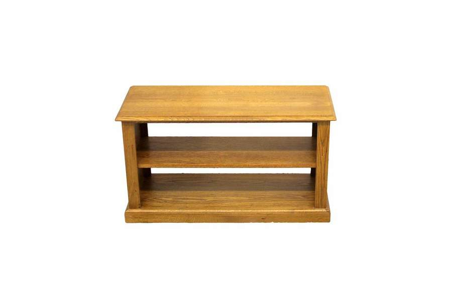 Recent Low Oak Tv Stands Regarding Contemporary Solid Oak Low Open Shelf Tv Stand (Image 19 of 25)