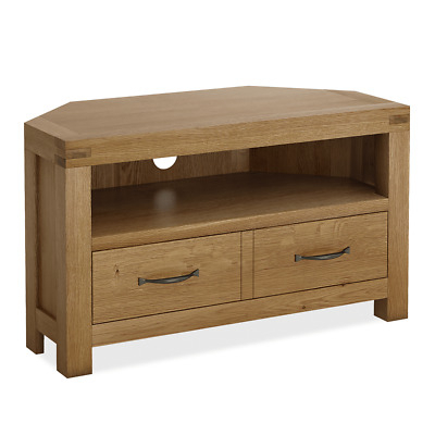 Recent Low Oak Tv Stands With Regard To Zelah Oak Extra Large Low Line Tv Unit / Large Screen Oak Tv Stand (Image 20 of 25)