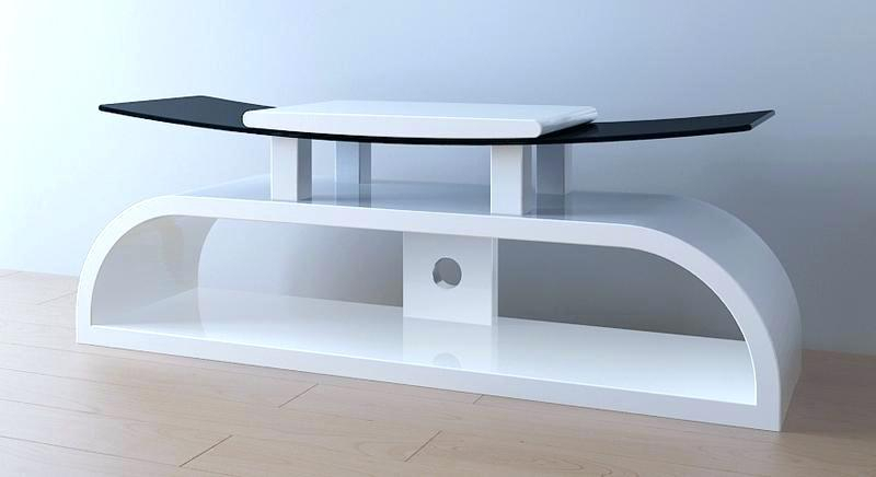 Recent Oval White Tv Stand Within White Tv Stand With Mount Modern – Rlci (Image 17 of 25)