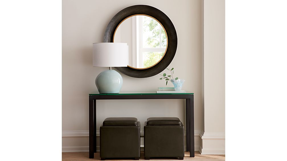 Recent Parsons Clear Glass Top & Stainless Steel Base 48X16 Console Tables With Regard To Parsons Clear Glass Top/ Dark Steel Base 48X16 Console + Reviews (Image 19 of 25)