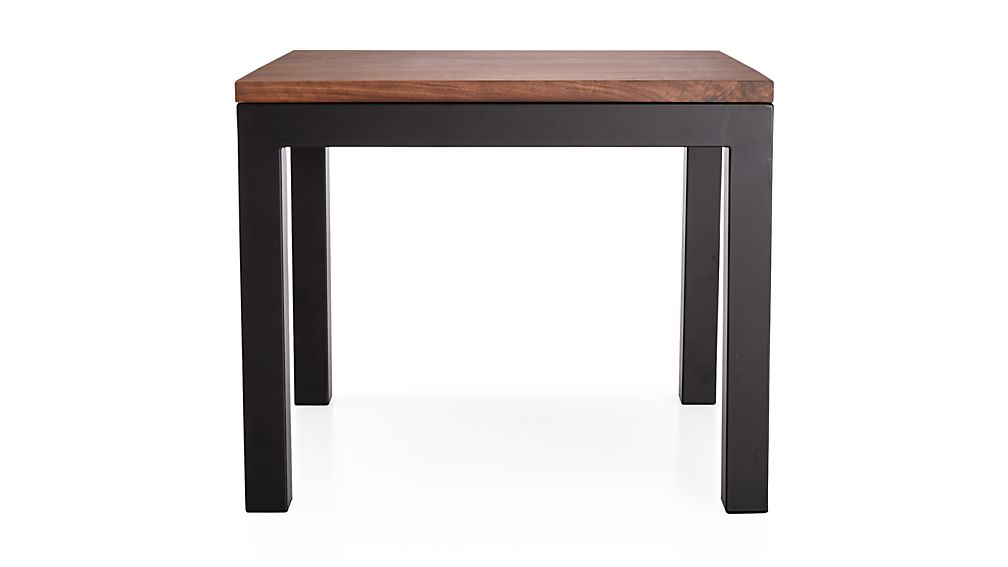 Recent Parsons Grey Solid Surface Top & Elm Base 48X16 Console Tables Throughout Parsons Walnut Top/ Dark Steel Base 20X24 End Table + Reviews (Image 20 of 25)
