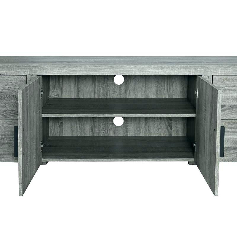 Recent Sinclair Grey 74 Inch Tv Stands For Inch Ash Grey Stand With Fireplace Tv Console Sinclair  (Image 20 of 25)