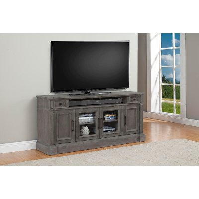 Recent Sinclair White 54 Inch Tv Stands Pertaining To 74 Inch Distresssed Gray Tv Stand – Willow (Image 16 of 25)