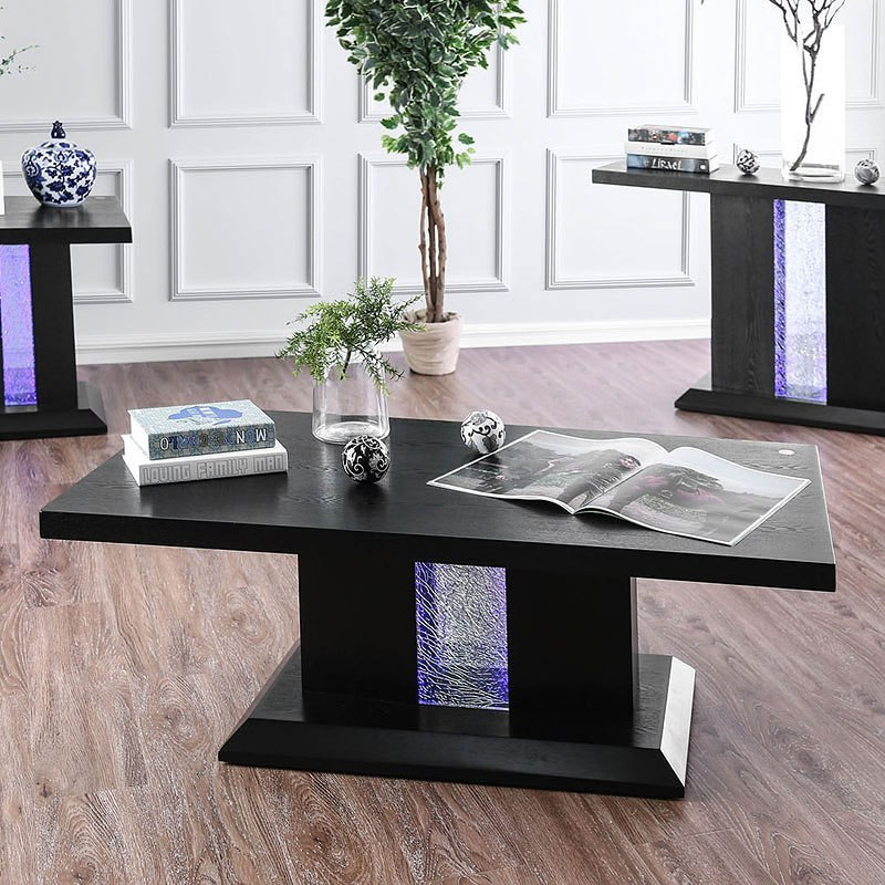 Recent Tobias Media Console Tables In Tobias Occasional Table Set W/ Led Lightsfurniture Of America (Image 13 of 25)