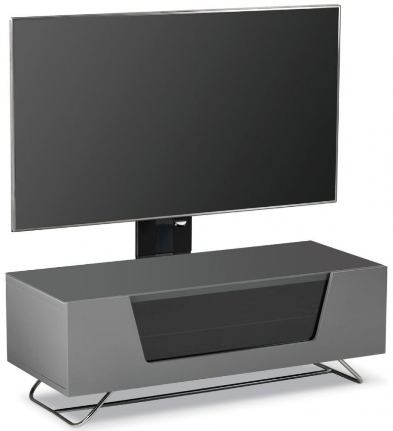 Recent White Cantilever Tv Stand With Regard To Buy Alphason Chromium 2 Grey Cantilever Tv Cabinet For 50Inch – Cro (View 10 of 25)