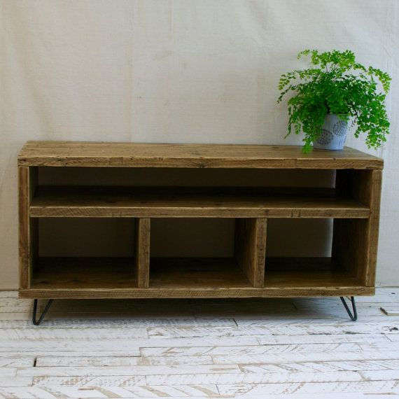 Reclaimed Wood Tv Stand – Hairpin Leg Rustic Industrial Scaffold With Regard To Well Liked Marvin Rustic Natural 60 Inch Tv Stands (Image 16 of 25)