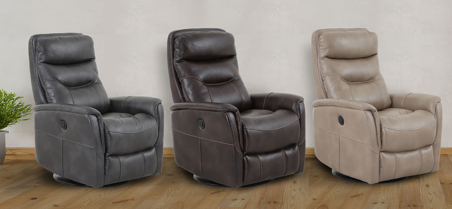 Recliners In Gannon Truffle Power Swivel Recliners (View 6 of 25)