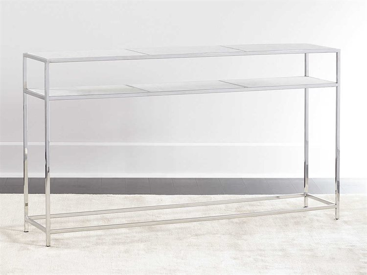 Regina Andrew Echelon Etched Marble With Polished Nickel 54''w X 12 In Well Liked Echelon Console Tables (Image 21 of 25)