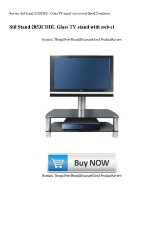 Review Stil Stand 2053Chbl Glass Tv Stand With Swivel Good Within Most Popular Stil Tv Stands (Image 14 of 25)