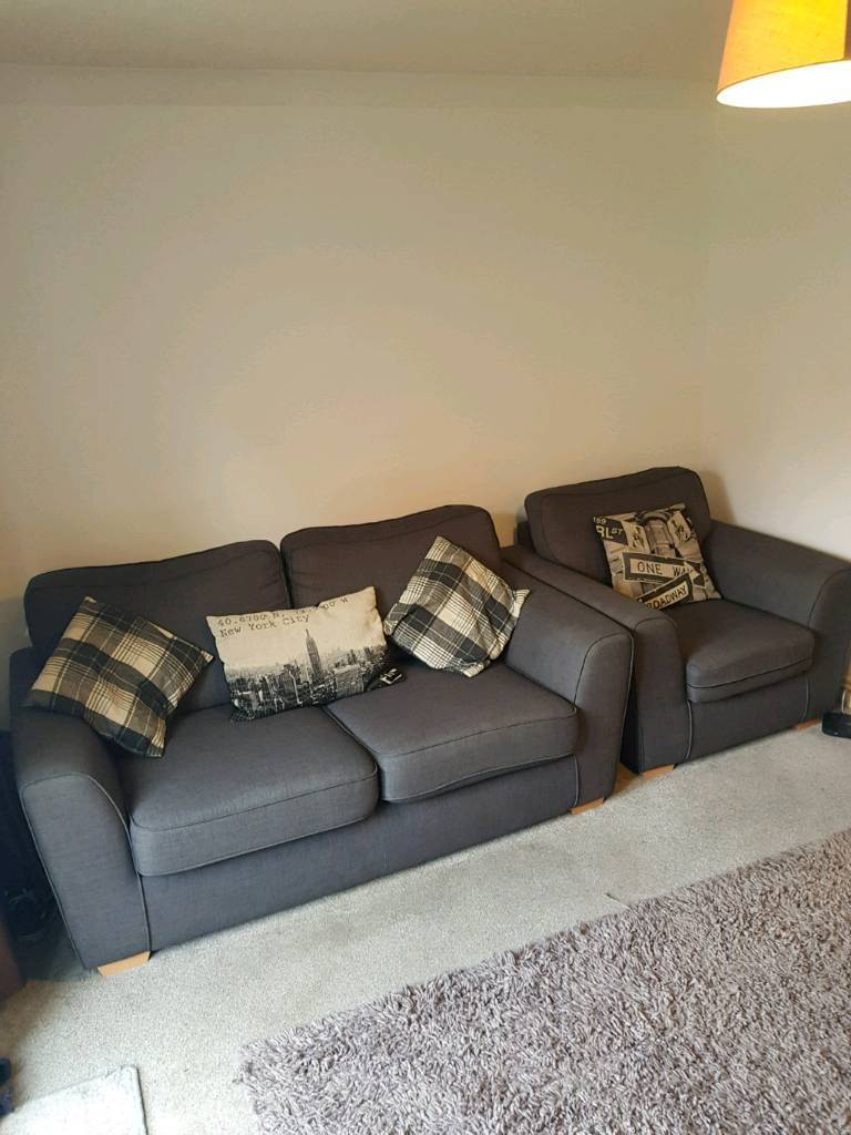 Revive Sofa Dfs 2 Seater And Arm Chair | In Exeter, Devon | Gumtree Intended For Devon Ii Arm Sofa Chairs (Image 21 of 25)