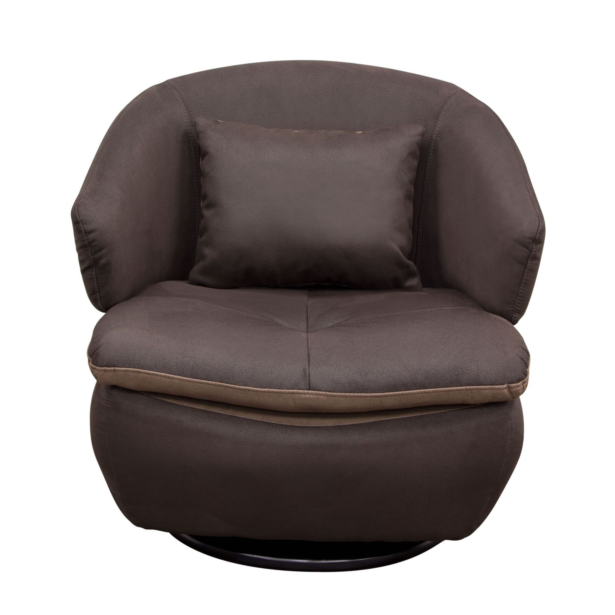 Rio Swivel Accent Chair In Brown Fabricdiamond Sofa | Products Throughout Twirl Swivel Accent Chairs (View 4 of 25)