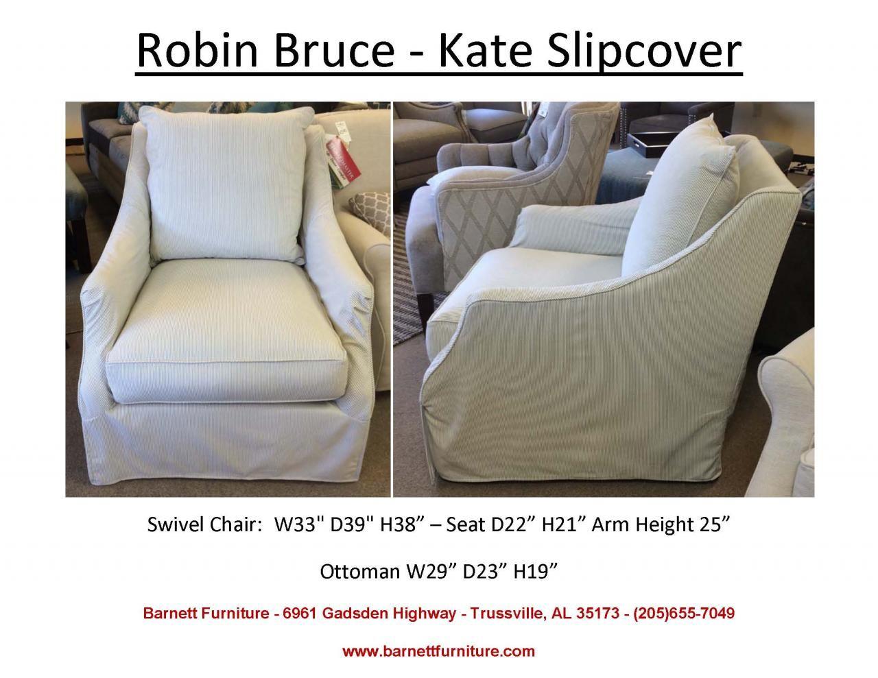 Robin Bruce Kate Slipcover Swivel Chair (Image 22 of 25)