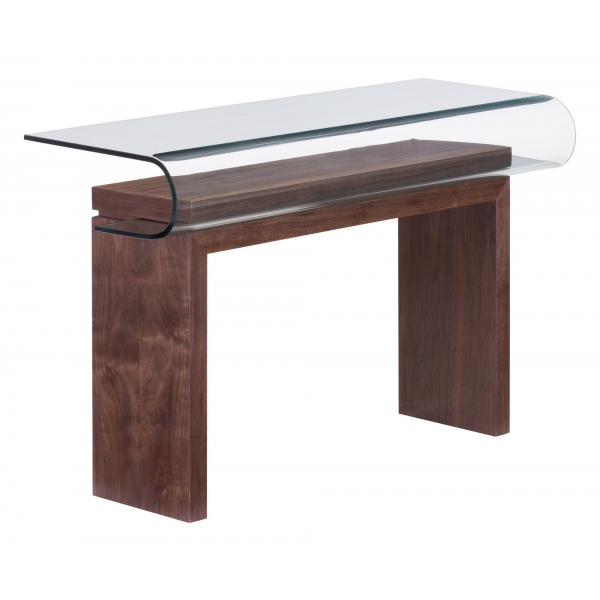 Roland Console Table Walnut (404064)Zuo Modern Regarding Current Balboa Carved Console Tables (View 11 of 25)