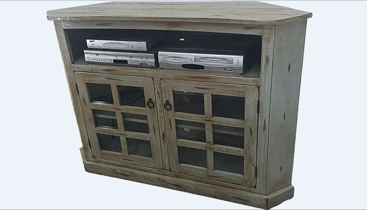 """Rustic Corner Tv Stand For Tvs Up To 55"""" Throughout Most Up To Date Wakefield 67 Inch Tv Stands (Image 20 of 25)"""