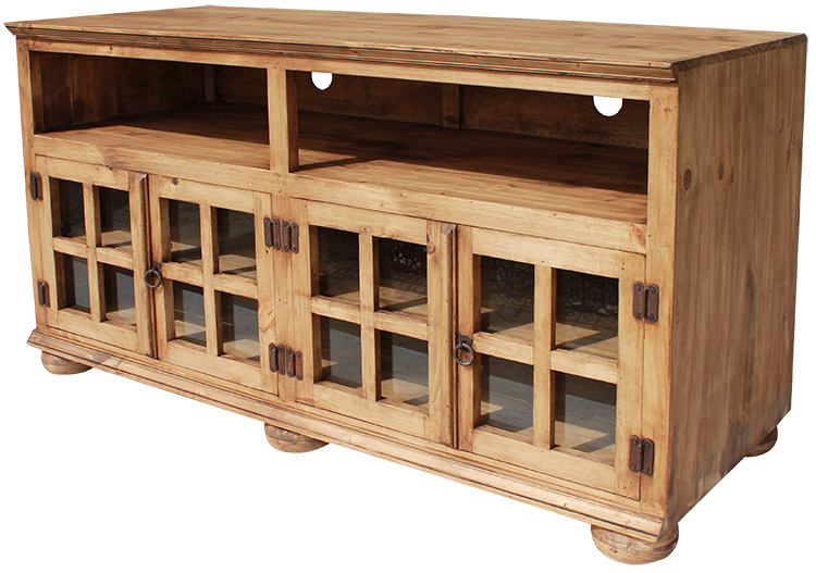 Rustic Furniture – Jaime Mexican Rustic Pine Tv Stand Within 2017 Pine Tv Stands (Image 13 of 25)