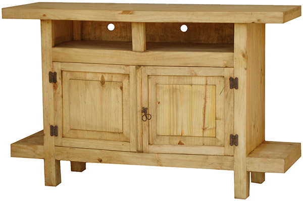 Rustic Furniture – Juanillo Mexican Rustic Pine Tv Stand Inside Widely Used Pine Tv Stands (Image 14 of 25)