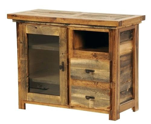 Rustic Furniture Tv Stand Small Reclaimed Wood Sustainable Stands Intended For Most Recent Rustic Furniture Tv Stands (View 9 of 25)