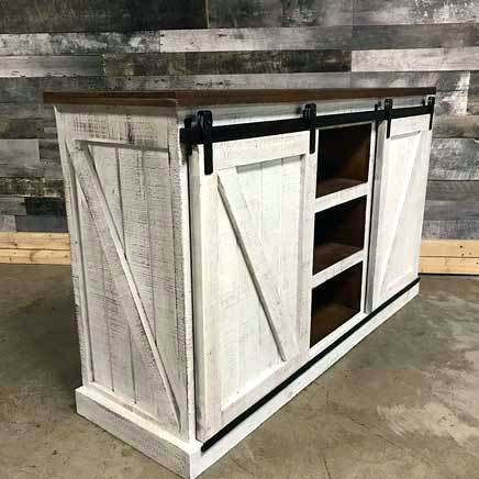 Rustic Furniture Tv Stands Barn Door Stand Distressed White Inch For Well Known Rustic Furniture Tv Stands (View 3 of 25)