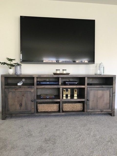 Rustic Tv Stands, Tv Stand Cover Pertaining To Fashionable Ducar 84 Inch Tv Stands (Image 19 of 25)