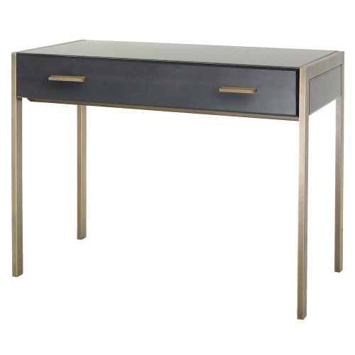 Rv Astley 1950S Dark Grey Shagreen Console Table (View 20 of 25)