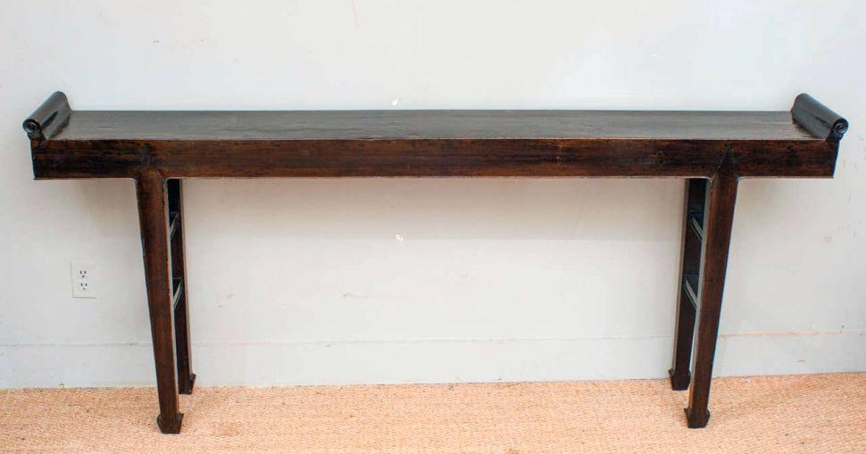 S White Distressed Wood Console Table Distressed Console Table With Within Most Current Antique White Distressed Console Tables (Image 15 of 25)