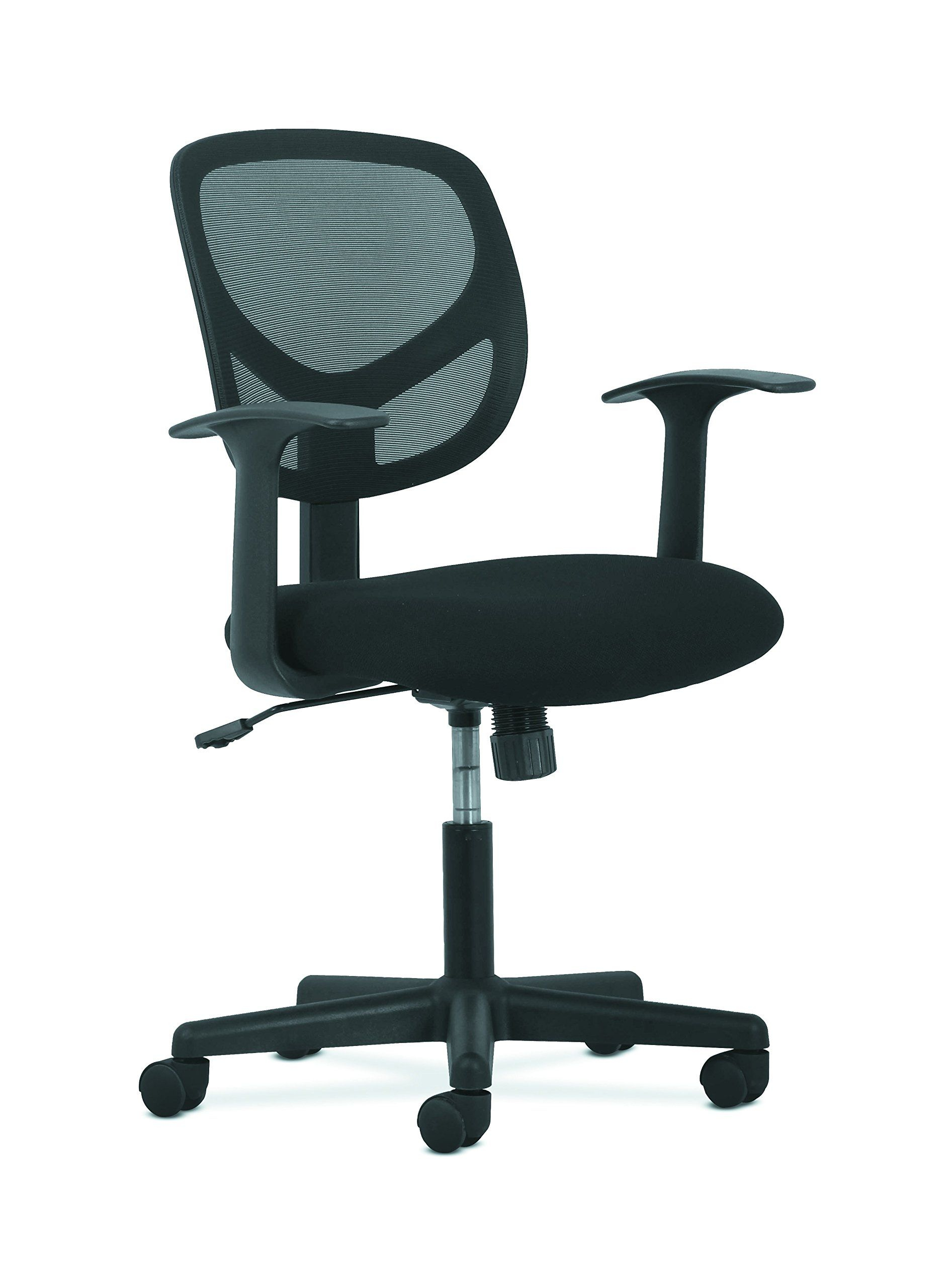 Sadie Swivel Mid Back Mesh Task Chair With Arms Ergonomic Computer Pertaining To Sadie Ii Swivel Accent Chairs (View 9 of 25)