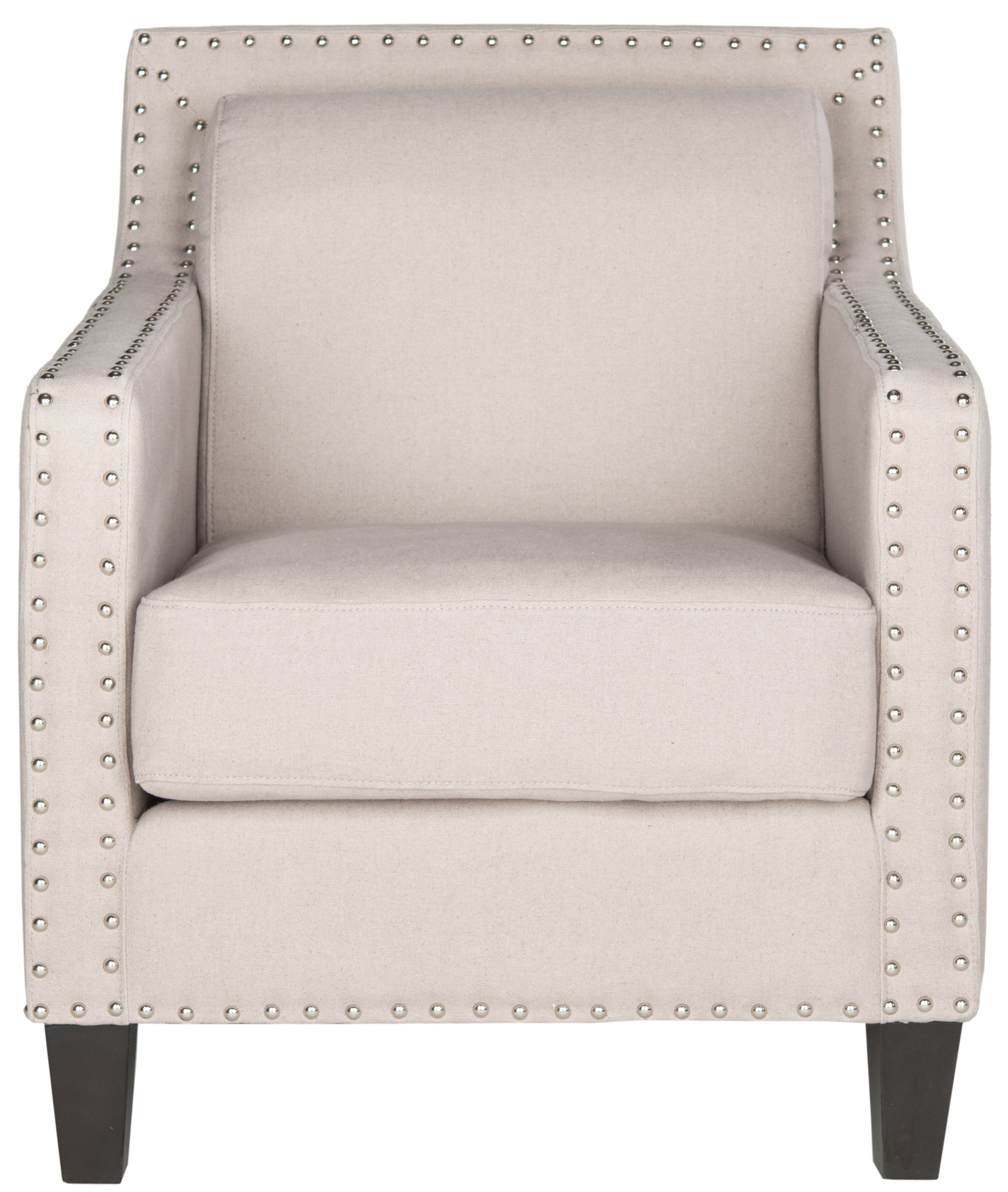 Safavieh Lucy Armchair & Reviews | Wayfair Pertaining To Lucy Grey Sofa Chairs (View 7 of 25)