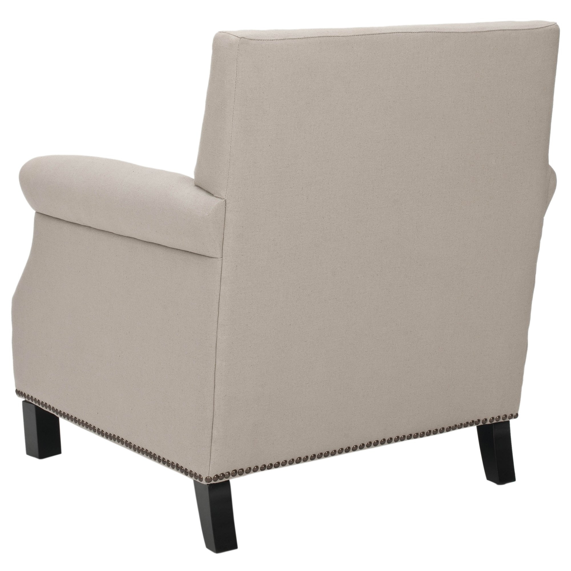 Safavieh Mercer Collection Charles Beige Linen Club Chair Furniture Throughout Mansfield Beige Linen Sofa Chairs (View 9 of 25)