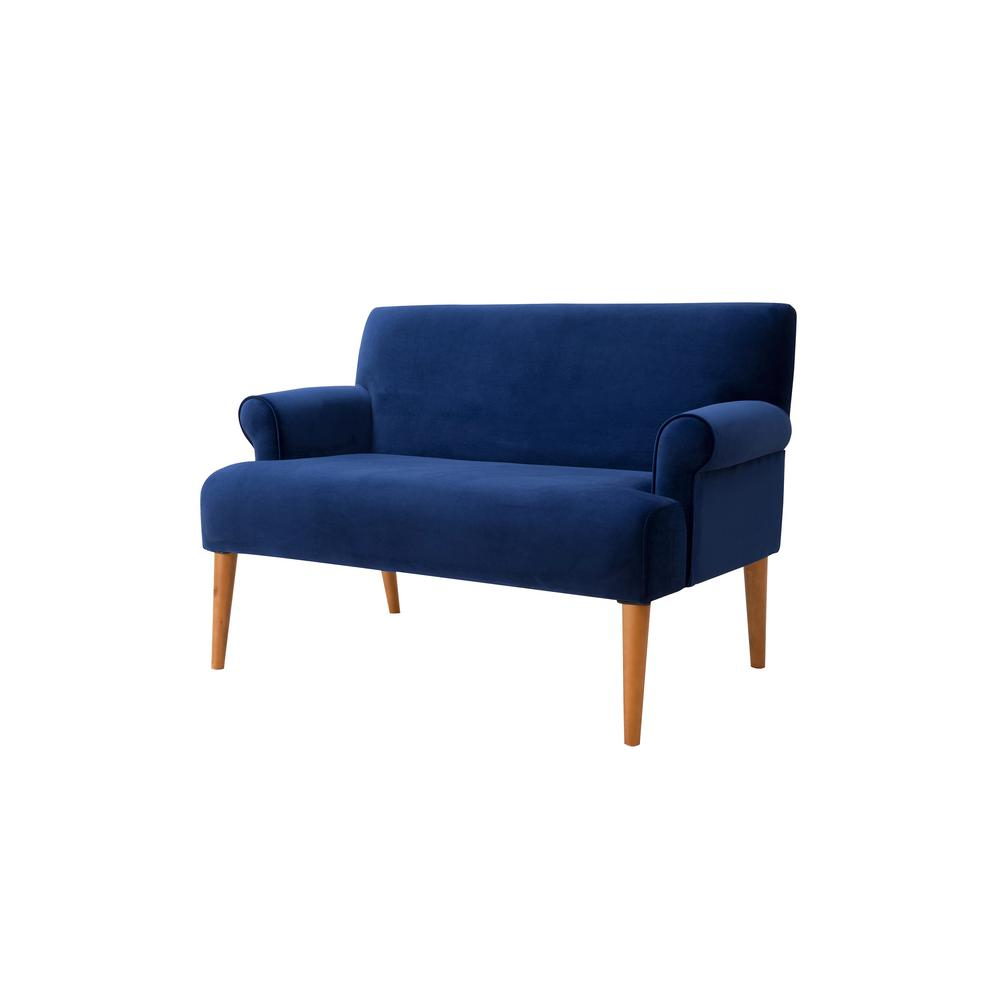 Sandy Wilson Callie Roll Arm Settee, Navy Blue S61170 859 – The Home In Callie Sofa Chairs (Image 20 of 25)