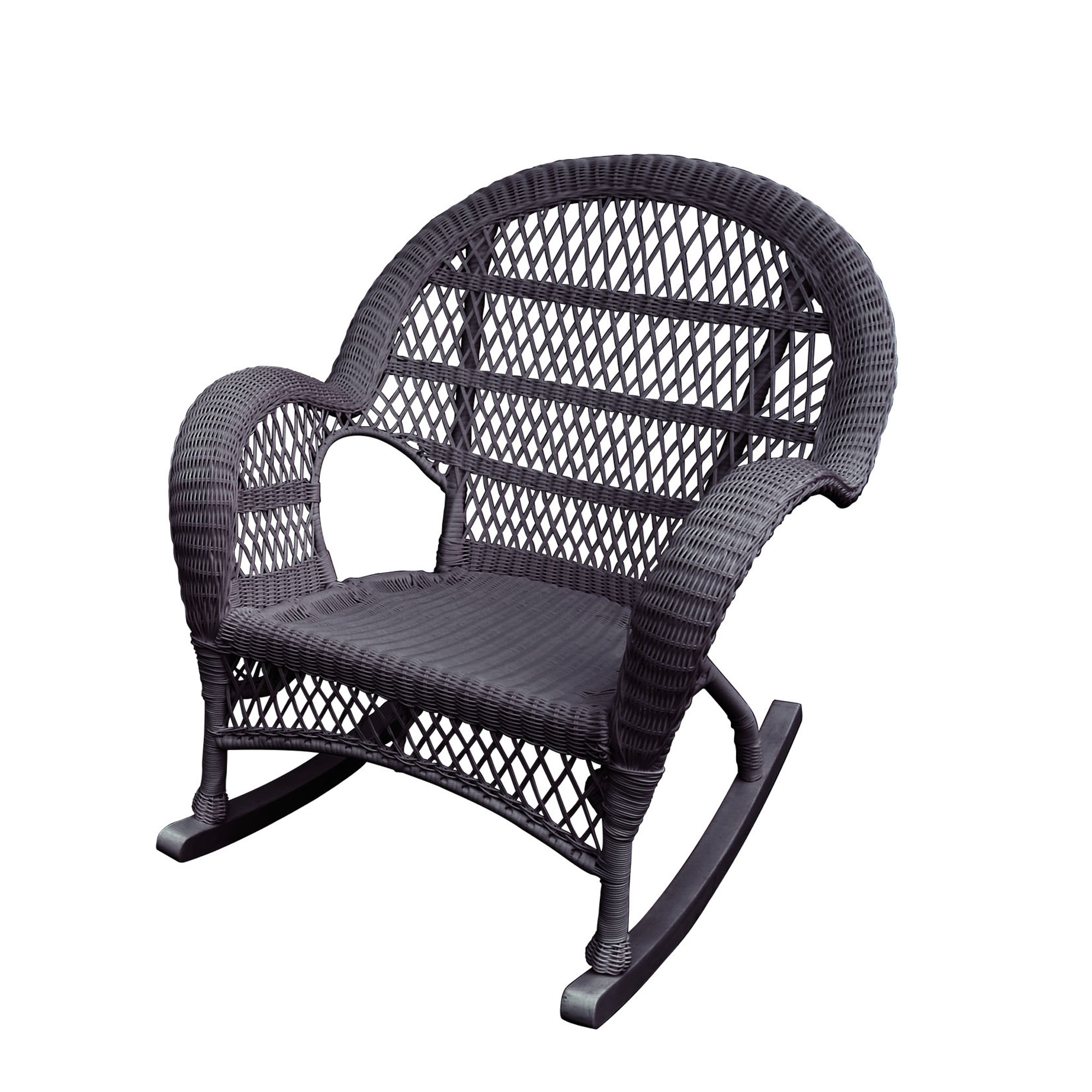 Santa Maria Espresso Rocker Wicker Chair W00208 R | Elite Fixtures Throughout Mari Swivel Glider Recliners (View 19 of 25)