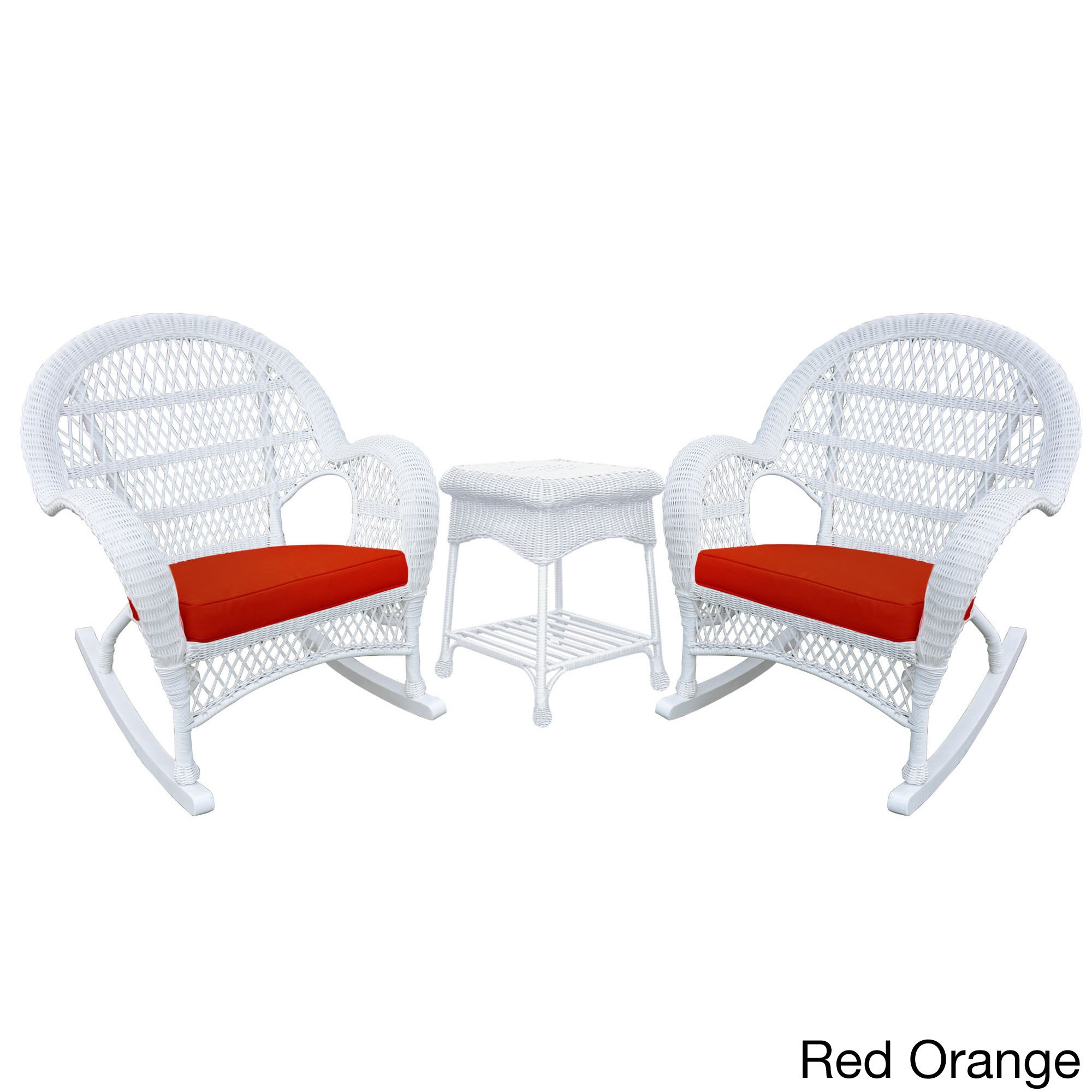 Santa Maria White Rocker Wicker Chair And End Table Set – Free Within Mari Swivel Glider Recliners (View 9 of 25)