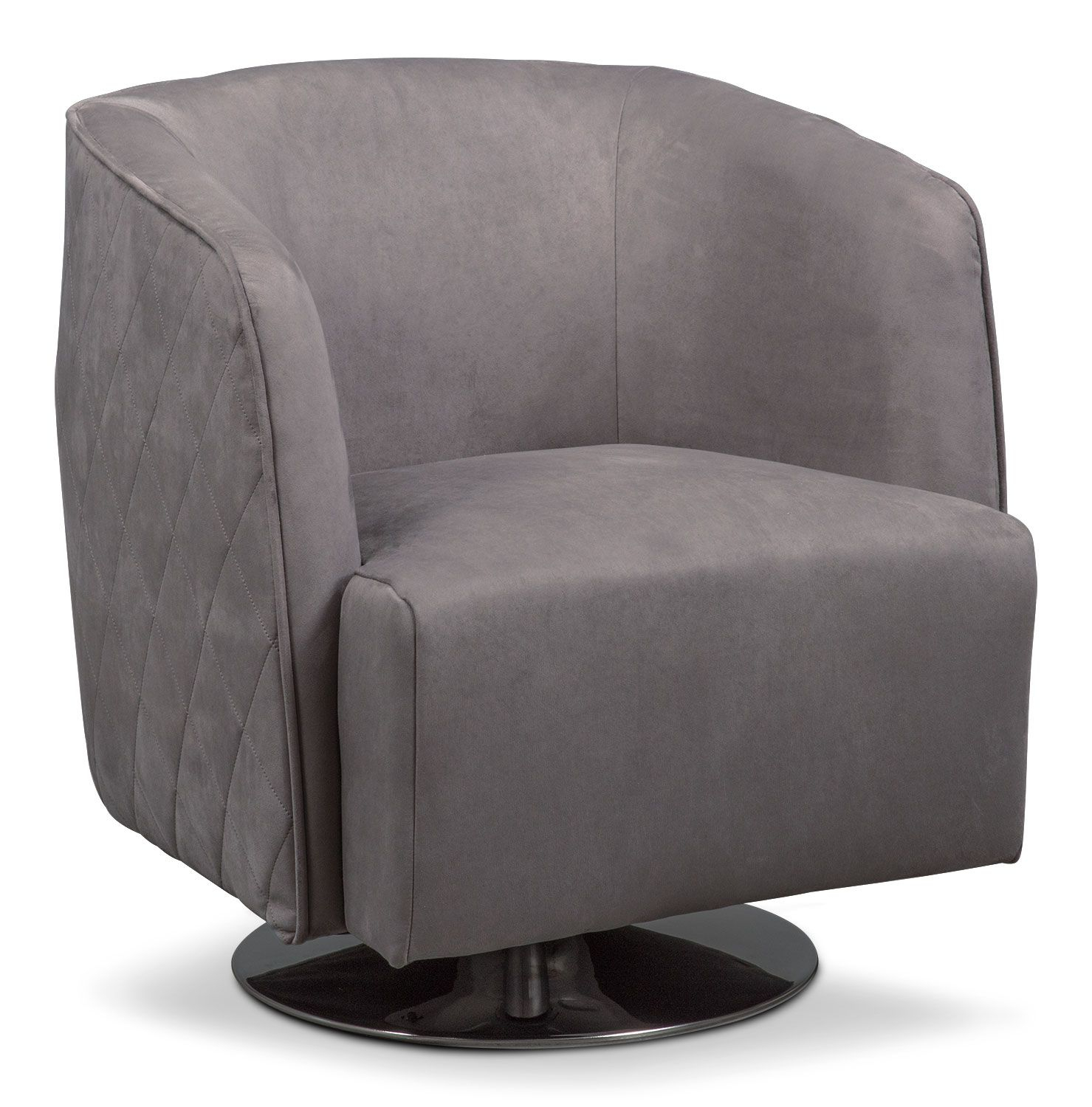 Santana Swivel Chair  Slate | Swivel Chair, Slate And Products With Twirl Swivel Accent Chairs (Image 19 of 25)