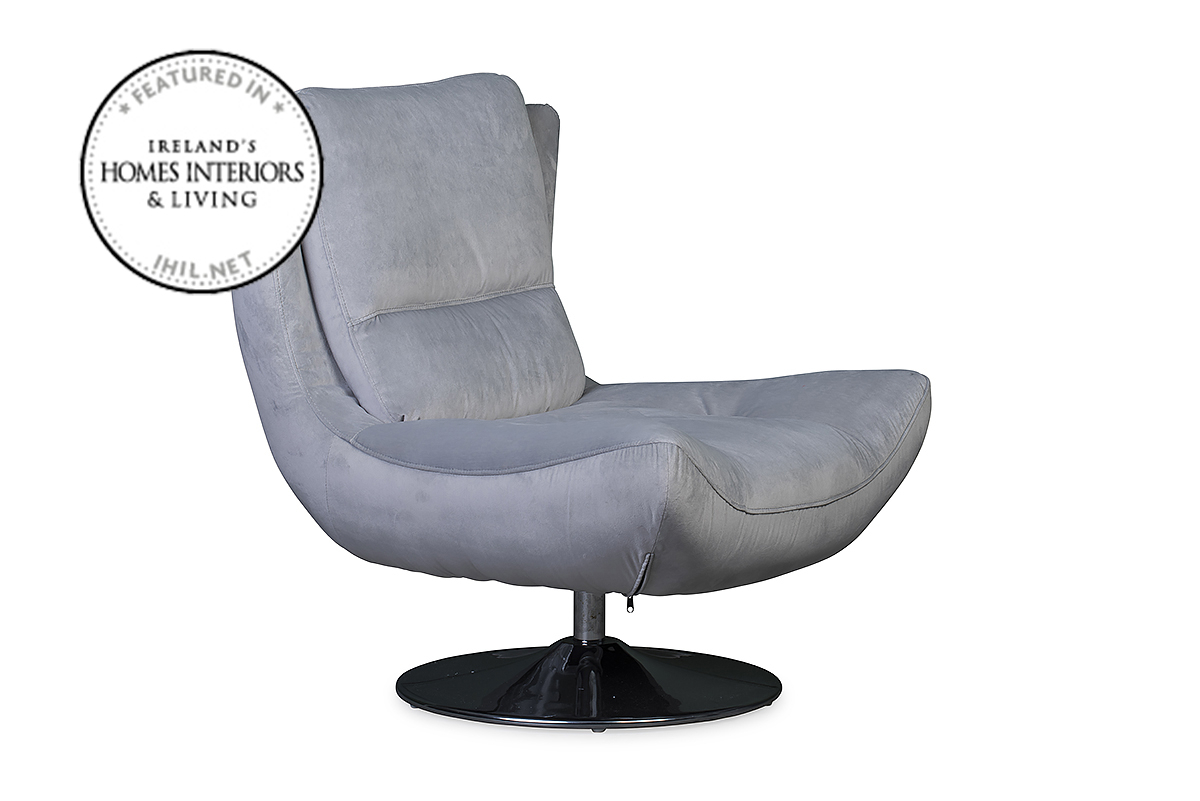 Santino Swivel Chair Grey – Furniture Stores Ireland Within Grey Swivel Chairs (View 19 of 25)