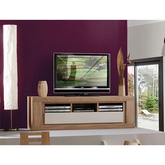 Season Wooden Tv Stand With High Gloss Cream Flap (Photo 11 of 25)