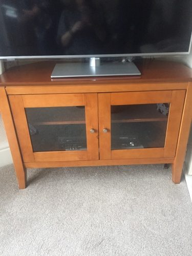 Second Hand Tv Stand Glass Front For Sale – Buy And Sell Burnley For Well Known Glass Front Tv Stands (Image 21 of 25)