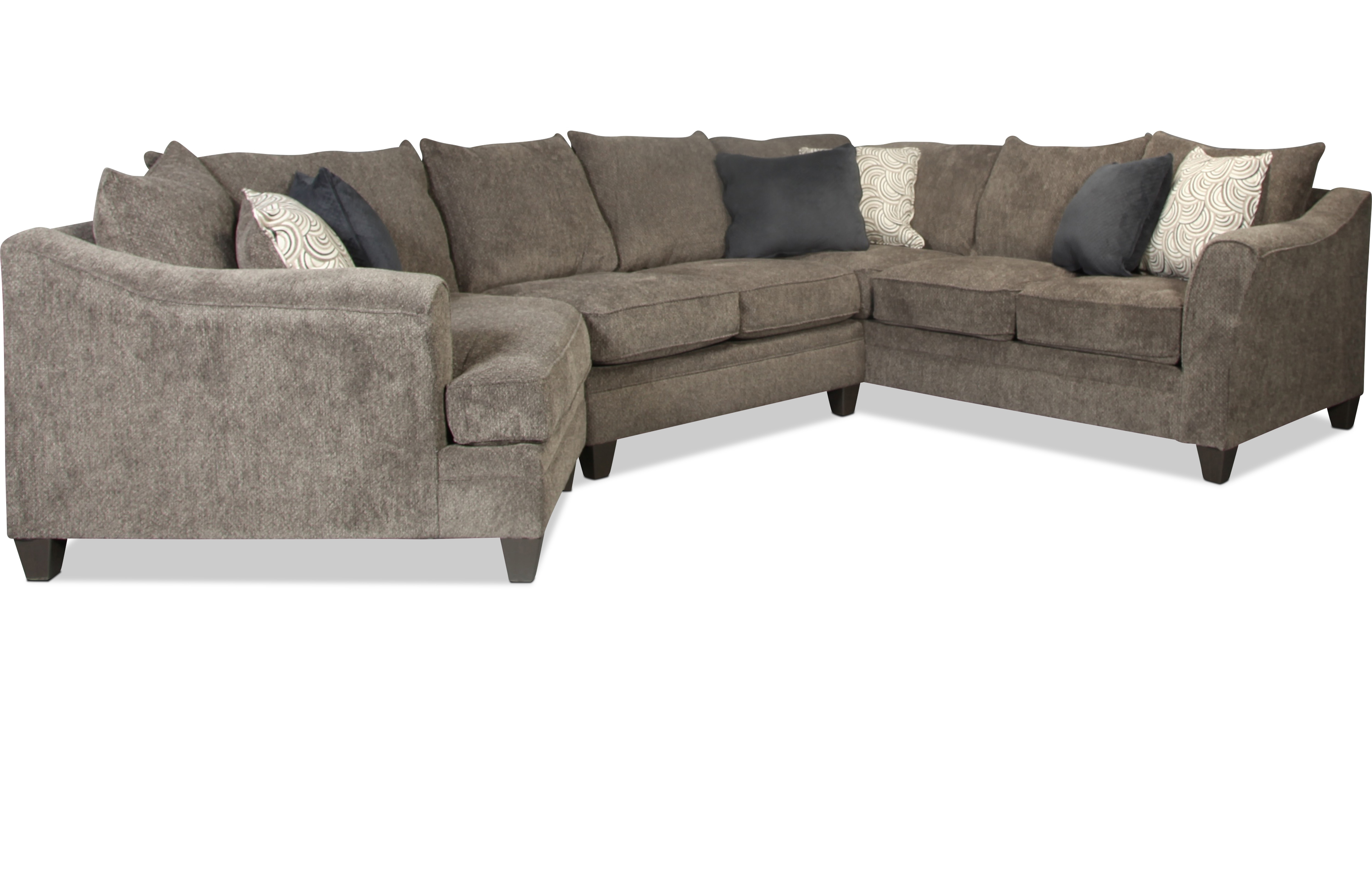 Sectionals | Levin Furniture With Regard To Mansfield Cocoa Leather Sofa Chairs (Image 19 of 25)