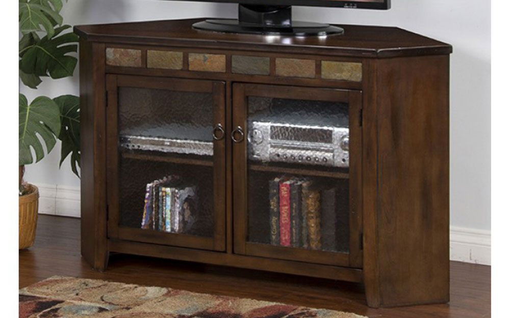 Sedona 55 Inch Corner Tv Stand At Gates Home Furnishings – Gates Regarding Fashionable Unique Corner Tv Stands (View 16 of 25)