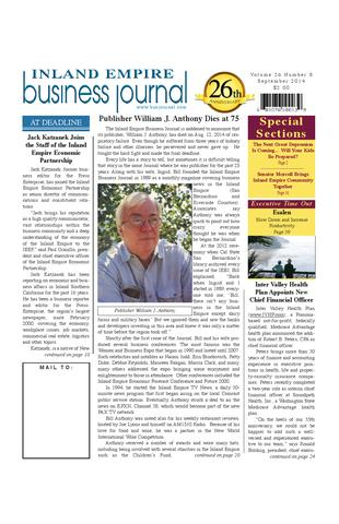 September 2014Inland Empire Business Journal – Issuu With Regard To Best And Newest Casey Umber 66 Inch Tv Stands (View 22 of 25)