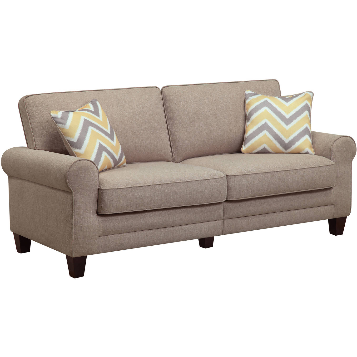 "Serta Rta Copenhagen Collection 73"" Sofa, Multiple Colors – Walmart For Mansfield Graphite Velvet Sofa Chairs (View 17 of 25)"