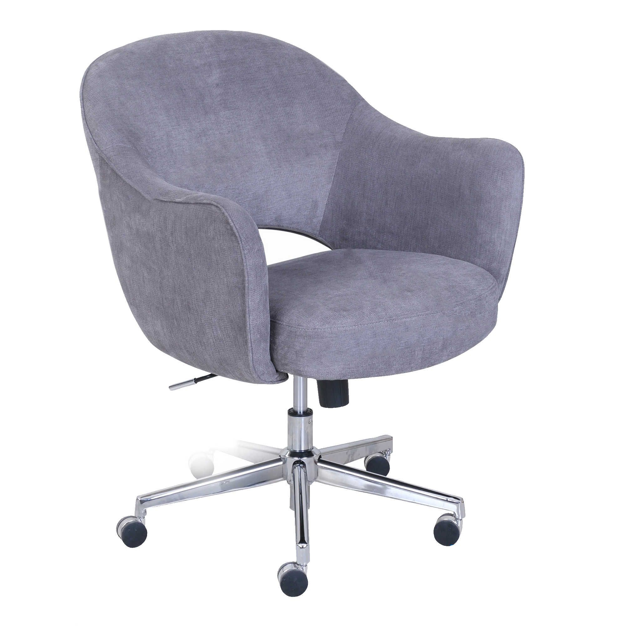 Serta® Valetta Home Office Chair In Dovetail Grey | Memory Foam With Mercer Foam Swivel Chairs (View 16 of 25)