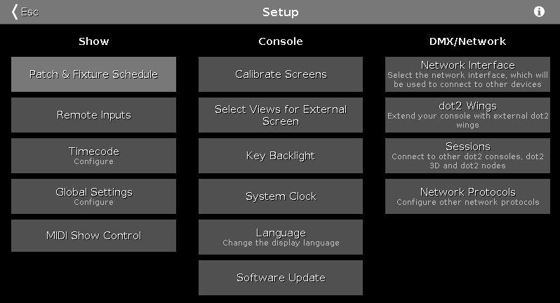 Setup Window – Dot2 User Manual – Help Pages Of Ma Lighting Intended For Popular Ventana Display Console Tables (Image 13 of 25)