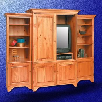 Shaker Unfinished Pine Tv Stands Entertainment Center Solid Natural Within Current Walton 74 Inch Open Tv Stands (Image 17 of 25)