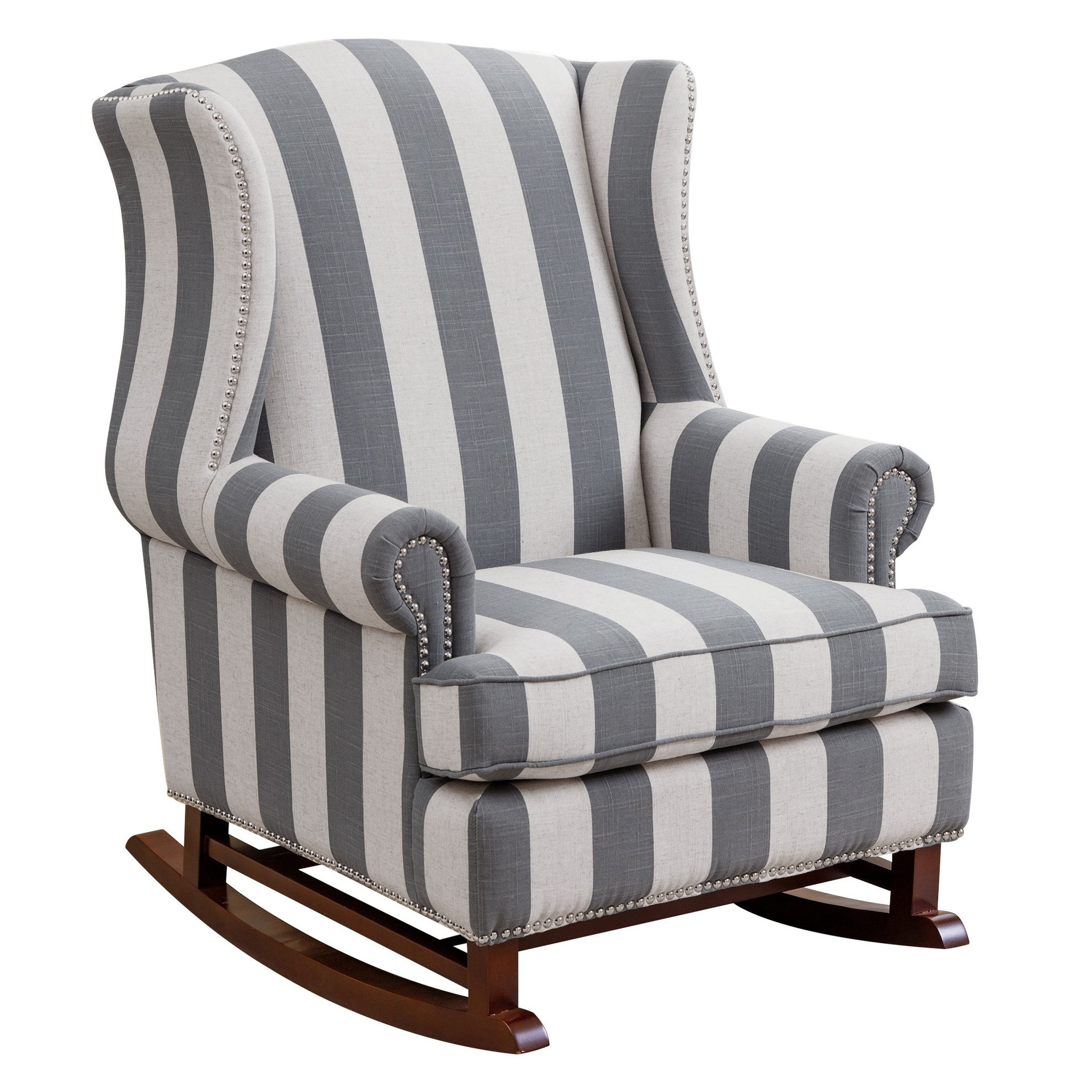 Shop Abbyson Radcliffe Two Tone Fabric Rocker Chair – On Sale – Free Throughout Katrina Blue Swivel Glider Chairs (Image 17 of 25)