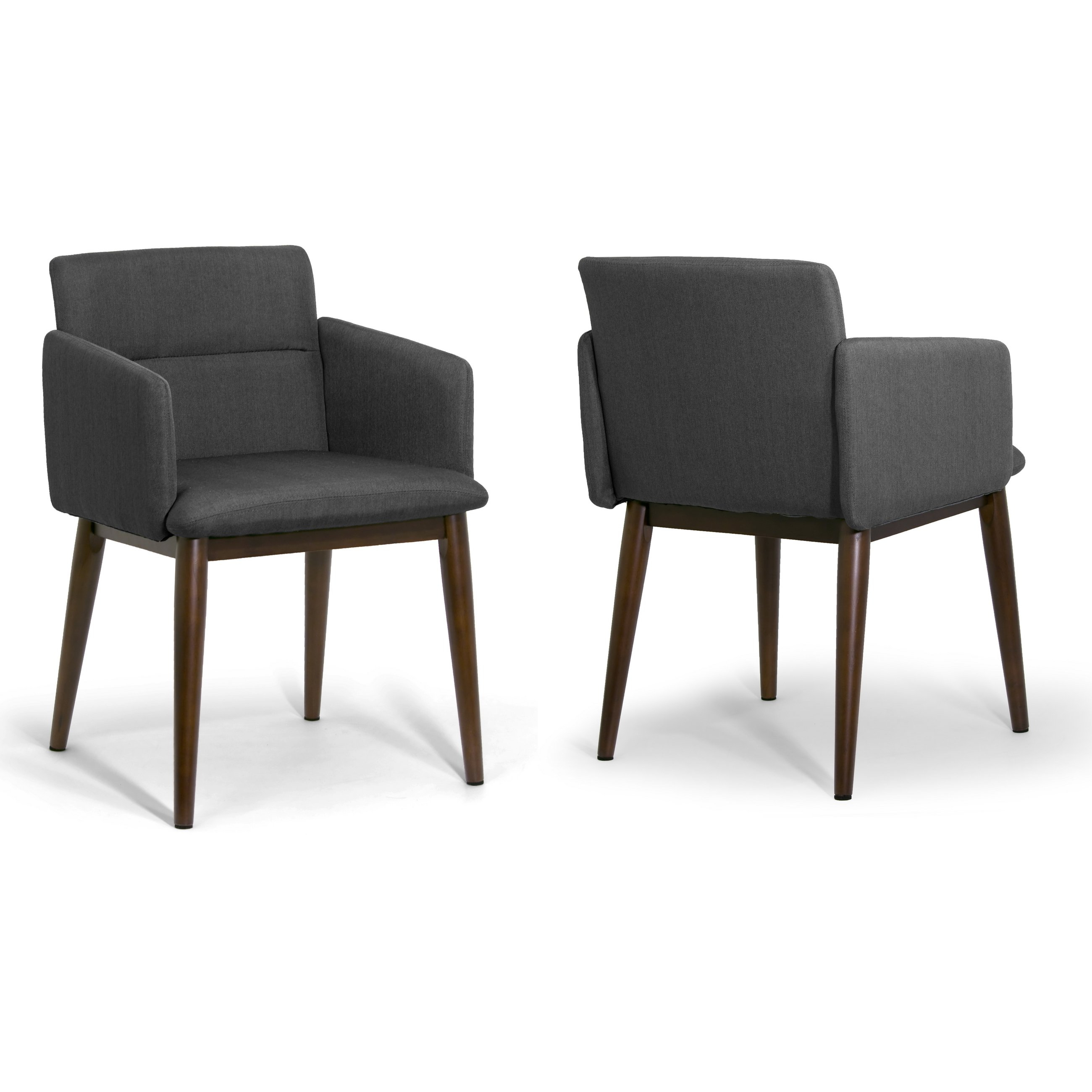 Shop Aila Dark Grey/dark Brown Fabric/beech Legs Accent Arm Chair With Aidan Ii Swivel Accent Chairs (View 20 of 25)