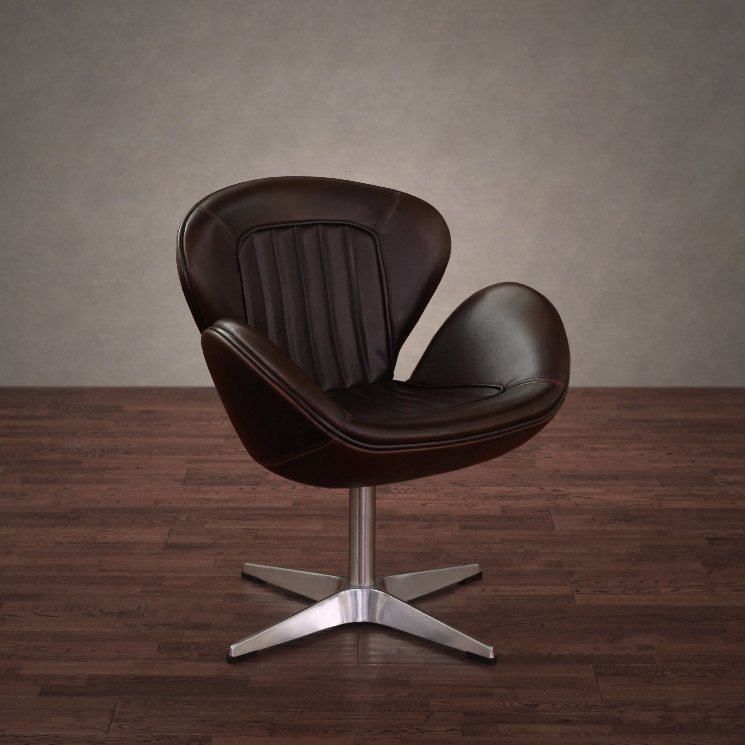 Shop Amelia Vintage Tobacco Leather Swivel Chair – Free Shipping Inside Swivel Tobacco Leather Chairs (View 2 of 25)