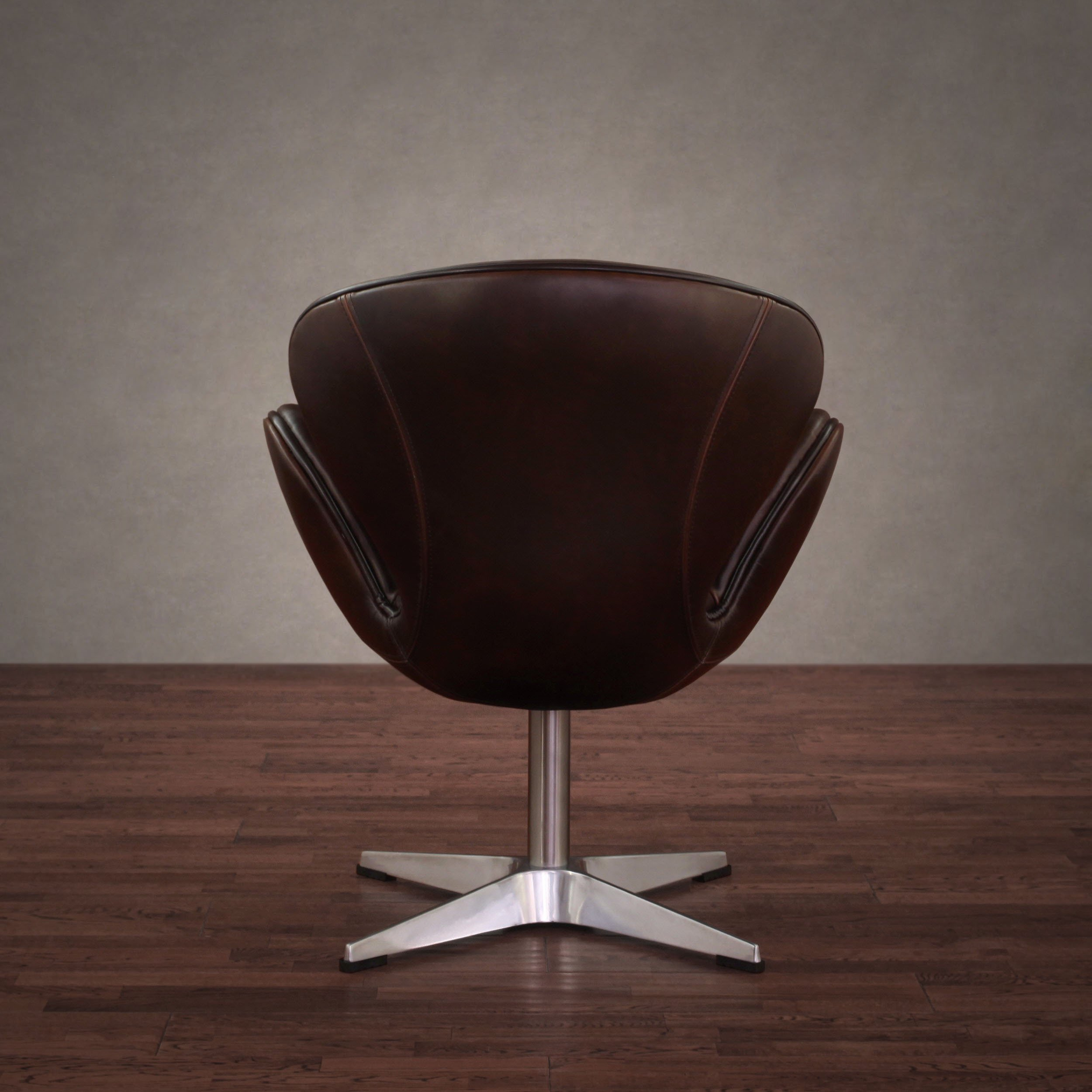 Shop Amelia Vintage Tobacco Leather Swivel Chair – Free Shipping Throughout Swivel Tobacco Leather Chairs (View 6 of 25)