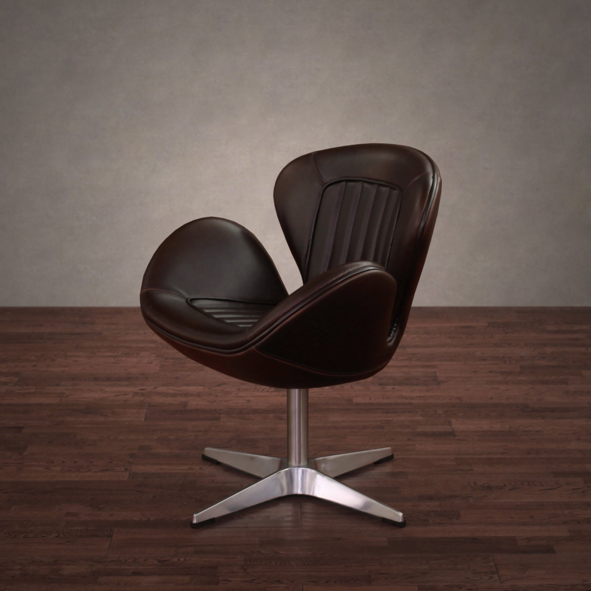 Shop Amelia Vintage Tobacco Leather Swivel Chair – Free Shipping With Regard To Swivel Tobacco Leather Chairs (View 11 of 25)